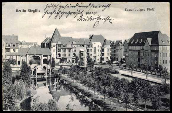 ansichtskarte postkarte berlin steglitz lauenburger platz see allee. Black Bedroom Furniture Sets. Home Design Ideas