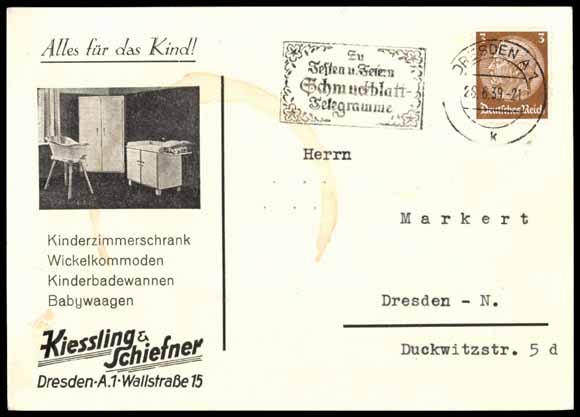 Reklame Ak Kiessling & Schiefner, Kinderzimmer