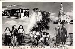 Postcard Portugal, Pastorinhos, Aparicao de Nossa Senhora, Pais de Jacinta e Francisco