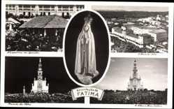 Postcard Fátima Portugal, A Capelinha das Aporicoes, Madonnenstatue, Hospital