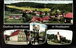 Postcard Unterklausen Hirschbach Oberpfalz, Gasthaus zur Grotte, Hischbachtal