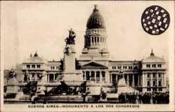 Postcard Buenos Aires Argentinien, Monumento a Los Dos Congresos
