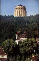 Postcard Kelheim, Blick auf die Befreiungshalle, Oberkelheim, Gutshaus, Waldhang