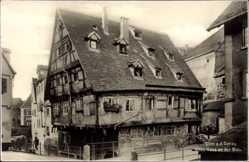 Postcard Ulm an der Donau Baden Württemberg, Altes Haus an der Blau