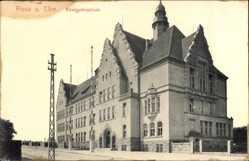 Postcard Riesa an der Elbe Sachsen, Blick auf das Realgymnasium