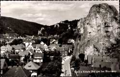 Postcard Blaubeuren Baden Württemberg, Panorama, S'leit a Klötzle Blei glei bei Blaub.