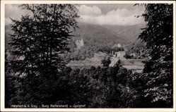 Postcard Herchen Sieg Windeck im Rhein Sieg Kreis, Burg Reifershardt und Igelshof