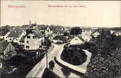 Postcard Bad Wörishofen im Unterallgäu, Gesamtansicht von Nord West
