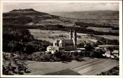 Postcard Bad Staffelstein am Main Oberfranken, Vierzehnheiligen mit Staffelberg