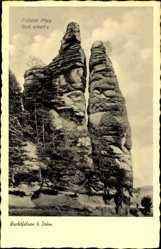 Postcard Dahn im Kreis Südwestpfalz, Blick auf den Wachtfelsen