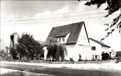 Postcard Syke Niedersachsen, Katholische Kirche mit Pfarrhaus und Pfarrheim