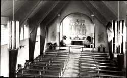 Postcard Syke Niedersachsen, Innenansicht der St. Paulus Kirche, Kanzel