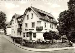 Postcard Schömberg im Nordschwarzwald Kreis Calw, Hotel Pension Linde