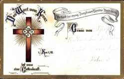 Litho Das Wort vom Kreuz ist uns eine Gotteskraft, Verband der ev. Jungfrauen