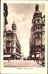 Postcard Rosario Argentinien, Calle Corrientes, Straßenpartie, Gebäude