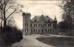 Postcard Leverkusen Küppersteg, Blick auf das Schloss Reuschenberg