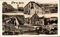 Postcard Eperjes Prešov Preschau Slowakei, Fotomontage, Gebäude der Stadt