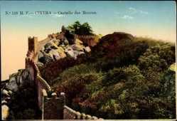 Postcard Cintra Sintra Portugal, Castello dos Mouros, Blick auf Maurische Festung