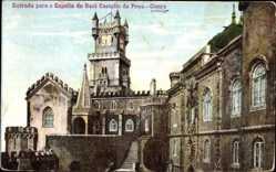 Postcard Cintra Sintra Portugal, Entrada para Capella do Real Castello da Pena