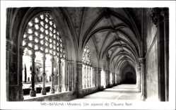 Postcard Bathaia Portugal, Mosteiro, um aspecto do Claustro Real, Kreuzgang