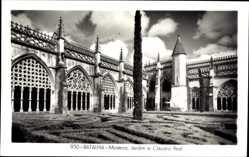 Postcard Bathaia Portugal, Mosteiro, Jardim e Claustro Real, Garten, Kloster