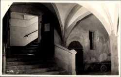 Foto Ak Regensburg an der Donau Oberpfalz, Gotisches Haus, Innenansicht
