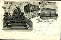Litho Düsseldorf am Rhein, Provinzial Denkmal, Tonhalle, Ständehaus