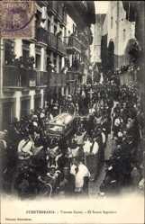 Ak Fuenterrabia Baskenland, Viernes Santo, el Santo Sepulcro, Prozession