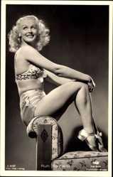 Ak Schauspielerin Ruth Buchardt, Blond, Tobis Film