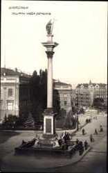 Postcard Warszawa Warschau Polen, Kolumna Krola Zygmunta, Säule
