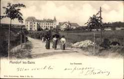 Postcard Mondorf les Bains Luxemburg, Le Couvent, Konvent, Frauen, Spazierweg