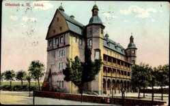 Postcard Offenbach am Main Hessen, Außenansicht des Schlosses