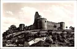 Postcard Neu Leiningen Bad Dürkheim, Blick auf die Ruine, Hügel, Mauerwerk
