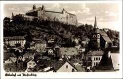 Postcard Kulmbach im Kreis Kulmbach Oberfranken, Blick auf den Ort mit Plassenburg