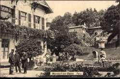 Postcard Mondorf les Bains Luxemburg, Parkanlagen, Besucher