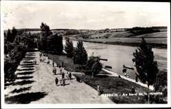 Postcard Remich Luxemburg, Au bord de la Moselle, Flussufer, Promenade