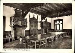 Postcard Ortenberg in Baden, Jugendherberge, Schloss, Tagesraum