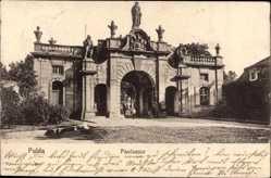 Postcard Fulda in Osthessen, Blick auf das Paulustor