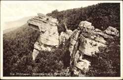 Postcard Alteinigen, Ithklippen mit Hexenkanzel und Hamelskopf