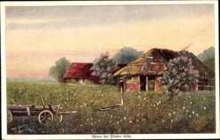Künstler Ak Lindenberg, E., Wenn der Flieder blüht, Haus, Primus 919
