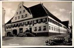 Postcard Zusmarshausen in Schwaben, Parkende Autos vor dem Gasthaus zur Post