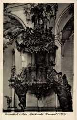 Postcard Amorbach Unterfranken, Blick auf die Kanzel in der Abteikirche