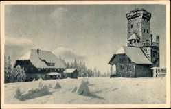 Postcard Bühl im Landkreis Karlsruhe Baden Württemberg, Hornisgrinde, Gasthof, Winter