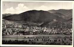 Postcard Gengenbach an der Kinzig Ortenaukreis, Panorama der Stadt, Berge