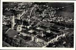 Postcard Ottobeuren im schwäbischen Kreis Unterallgäu, Blick auf das Kloster