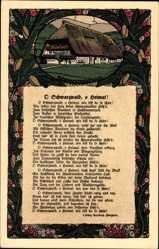 Steindruck Ak O Schwarzwald, o Heimat, Gedicht von Ludwig Auerbach