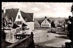 Postcard Ottobeuren im schwäbischen Kreis Unterallgäu, Der Marktplatz
