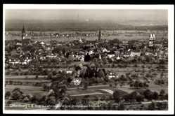 Postcard Offenburg im Schwarzwald Ortenaukreis, Blick auf Rheinebene und Münster
