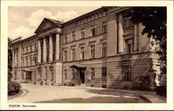 Postcard Radom Polen, Starostwo, Verwaltungsgebäude, Außenansicht