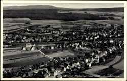 Postcard Hochspeyer Saarpfalz, Fliegeraufnahme, Stadtpanorama, Felder